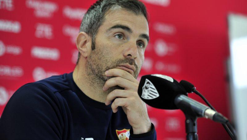 Maresca, en rueda de prensa tras su vuelta al Sevilla FC   Foto: Sevilla FC