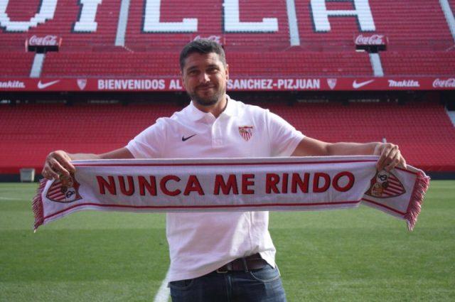 Cristian Toro, presentado como nuevo entrenador del Sevilla FC Femenino   Imagen: Sevilla FC.