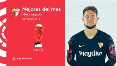 Vaclík, mejor jugador del mes de noviembre en LaLiga