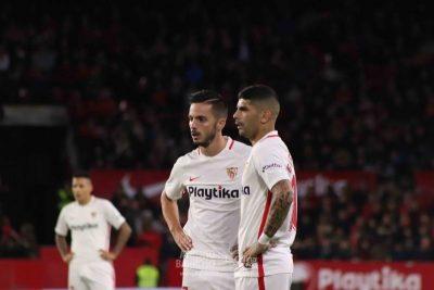 El Sevilla acusa el bajón de Sarabia, Banega y Vázquez