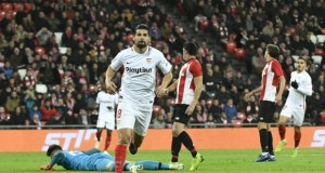 Nolito celebra su gol ante el Athletic Club