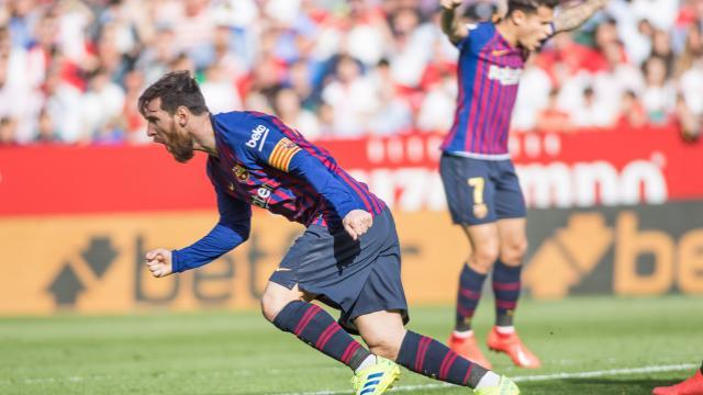 El Sevilla sucumbió ante el acierto de Leo Messi