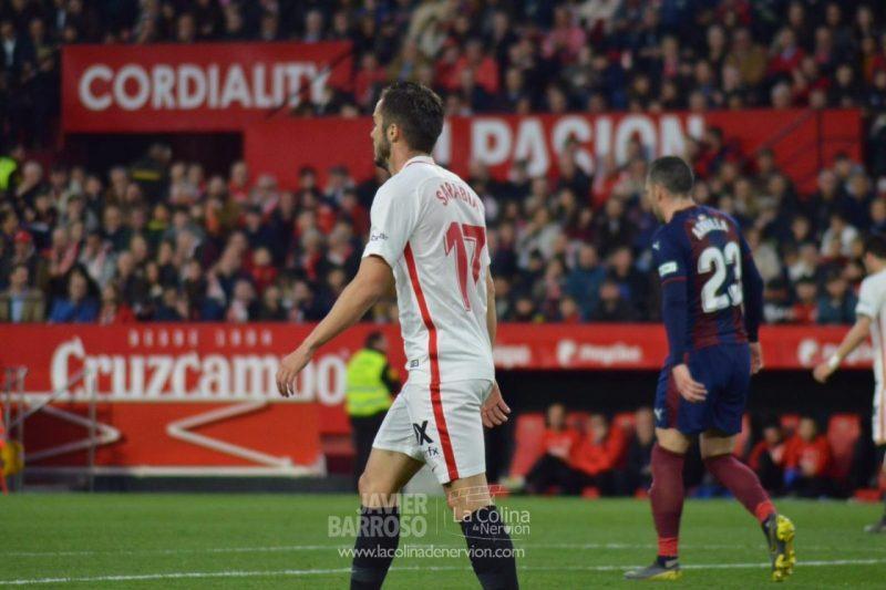 El Sevilla de Machín se estrella una y otra vez en las acciones a balón parado