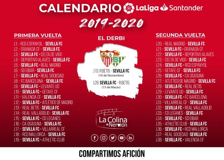 Calendario La Liga 2019.El Calendario Completo De La Liga 2019 20 En Alta Resolucion Y