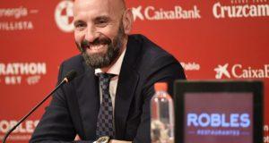 Monchi en la presentación de Fernando Reges | Imagen: Sevilla FC
