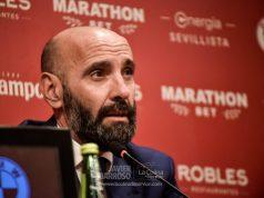 Monchi, durante una rueda de prensa de presentación de Jordán y Diego Carlos con el Sevilla | Imagen: La Colina de Nervión - Javier Barroso