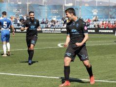 Pedro Ortiz, celebrando un gol con el Atlético Baleares |Imagen: Agencias