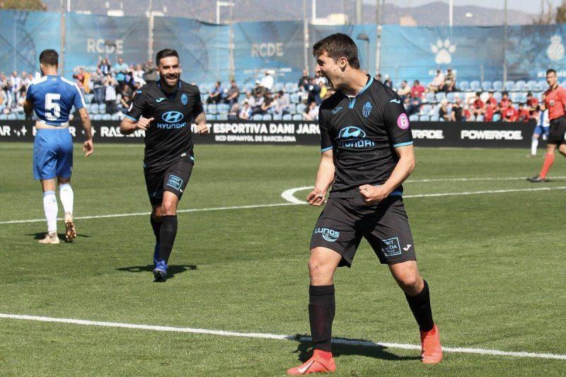 Pedro Ortiz, celebrando un gol con el Atlético Baleares  Imagen: Agencias