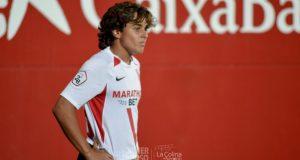 Carlos Álvarez, debutó con el Sevilla Atlético en partido oficial con solo 16 años | Imagen: La Colina de Nervión - Javi Barroso