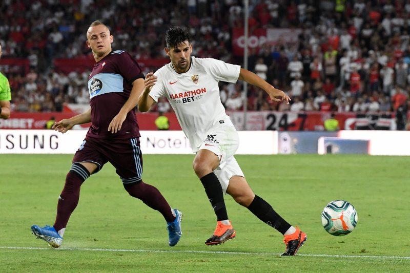 Nolito, durante una jugada en un partido del Sevilla FC contra el Celta  Imagen: Sevilla FC