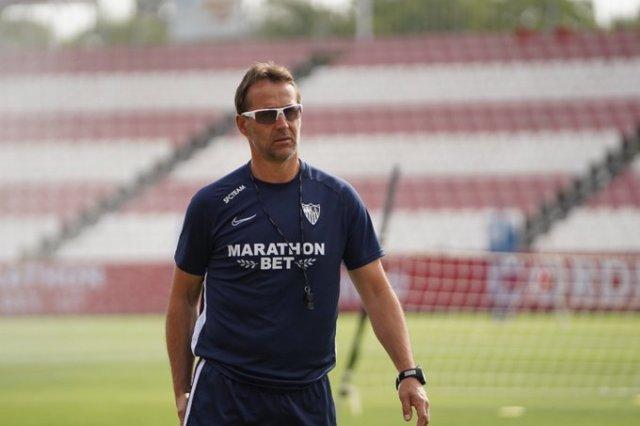 El entrenamiento del Sevilla, comandado por Lopetegui   Imagen: Sevilla FC