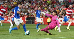 Munir, durante una jugada ante el Granada | Imagen: Sevilla FC
