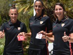 Raquel Pine, Maite Albarrán y Aldana Cometti, nuevas capitanas del primer equipo femenino | Imagen: Sevilla FC