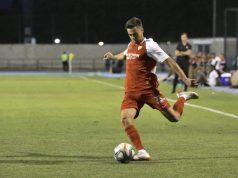 Sergio Reguilón, durante un partido amistoso con el Sevilla   Imagen: Sevilla FC