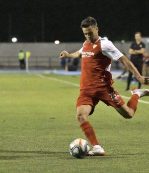Sergio Reguilón, durante un partido amistoso con el Sevilla | Imagen: Sevilla FC