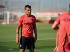 Rony Lopes, durante su primer entrenamiento con el Sevilla FC | Imagen: Sevilla FC