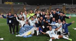 Las jugadoras argentinas, celebrando el pase a la final de los Panamericanos | Imagen: FAF
