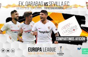Previa del partido entre Qarabag y Sevilla FC | Imagen: La Colina de Nervión