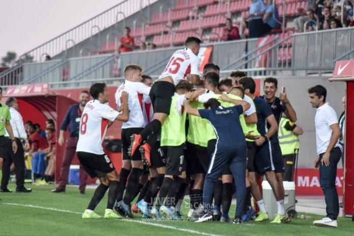 El choque entre Sevilla Atlético y Talavera, en fotos