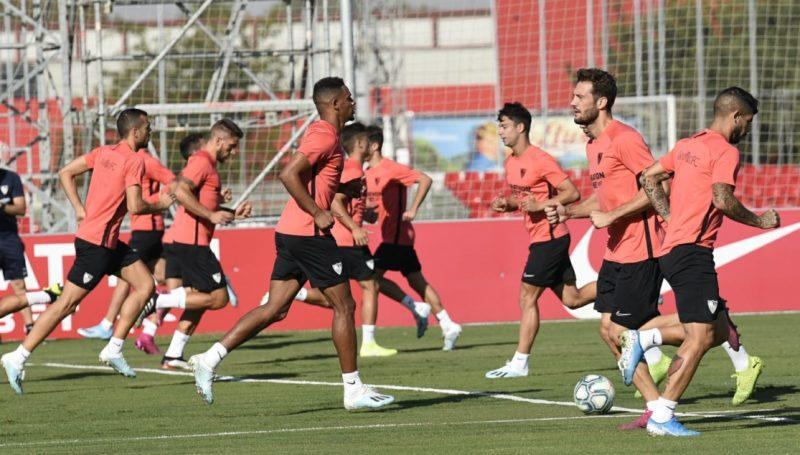 Entrenamiento del Sevilla en la Ciudad Deportiva | Imagen: Sevilla FC