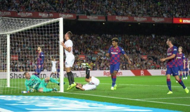 Imagen del partido entre Barcelona y Sevilla | Imagen: LaLiga