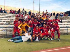 El Sevilla Atlético, celebrando la victoria ante el San Fernando | Imagen: Sevilla FC