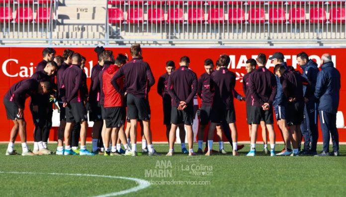 La vuelta del Sevilla al trabajo, en fotos