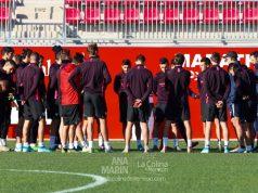 La plantilla del Sevilla, de vuelta al entrenamiento tras las vacaciones navideñas | Imagen: Ana Marín - La Colina de Nervión