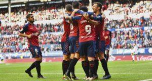 Los jugadores de Osasuna, próximo rival del Sevilla, celebrando un gol | Imagen: MARCA