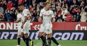 Luuk de Jong, tas marcar el primer tanto del Sevilla FC frente al Granada | Imagen: La Colina de Nervión - Javier Barroso