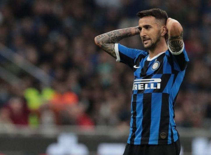 Matías Vecino, durante un partido con el Inter de Milán || Imagen: Balón Latino
