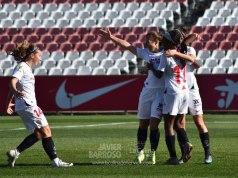 Las futbolistas del Sevilla FC celebran un gol ante el Atlético de Madrid | Javier Barroso, LCDN