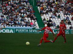 Carlos Álvarez, durante un lance del partido entre el Sevilla Atlético y el Córdoba, en el Nuevo Arcángel | Imagen: Sevilla FC