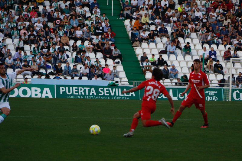 Carlos Álvarez, durante un lance del partido entre el Sevilla Atlético y el Córdoba, en el Nuevo Arcángel   Imagen: Sevilla FC