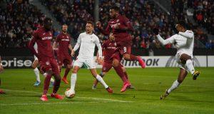 Lance del juego durante el partido del Sevilla de Lopetegui ante el Cluj | Imagen: Sevilla F