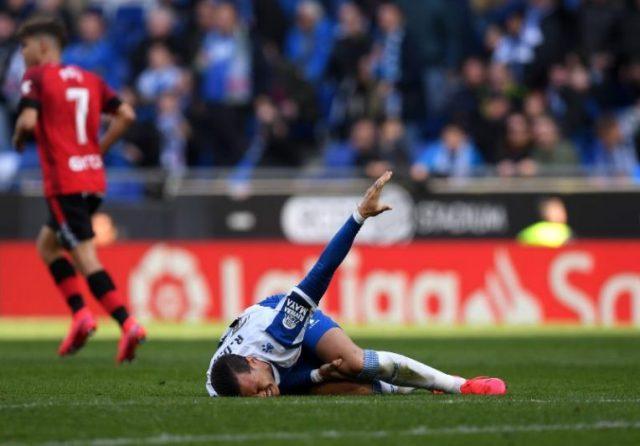 Raúl de Tomás no estará ante el Sevilla FC   Imagen: Alex Caparros -Getty Images