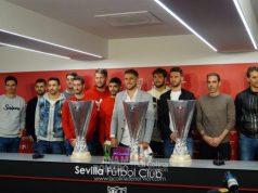 Daniel Carriço, junto a sus compañeros durante el acto de despedida del Sevilla FC | Imagen: La Colina de Nervión - Ana M Romero
