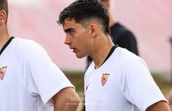 Pablo Pérez, jugador del Sevilla FC, durante un partido con el Juvenil | Imagen: La Colina de Nervión - Ana Marín