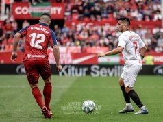 Rony Lopes, con el balón en el encuentro ante Osasuna en el Sánchez-Pizjuán | Imagen: Javier Barroso - La Colina de Nervión
