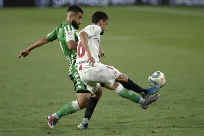 Jesús Navas en el Sevilla FC-Betis