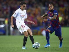 Partido Sevilla FC frente al FC Barcelona en el Camp Nou