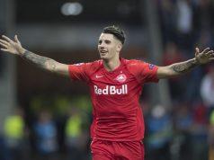 Szoboszlai (posible fichaje del Sevilla FC) celebrando un gol con el RB Salzburg (Getty Images)