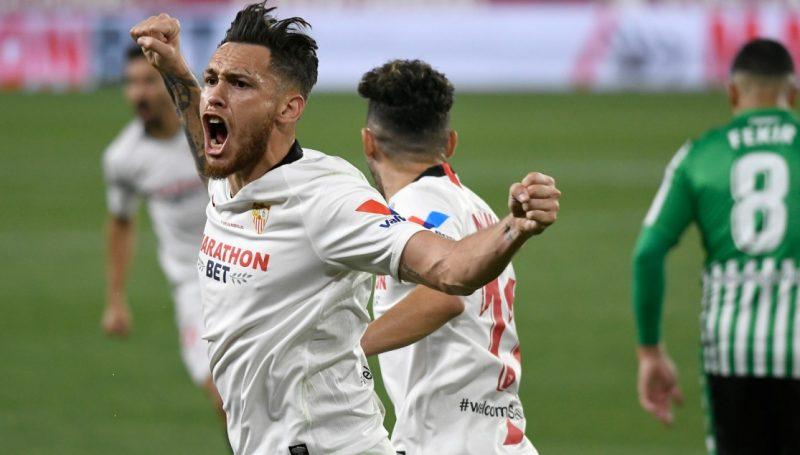 Sevilla FC gol de ocampos en el derbi