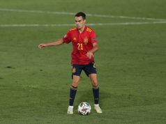 Sergio Reguilón, favorito para el lateral izquierdo del Sevilla FC, con la Selección Española