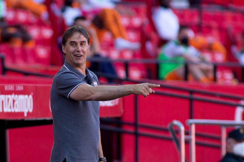 Julen Lopetegui, en el partido entre el Sevilla FC y el Valencia CF