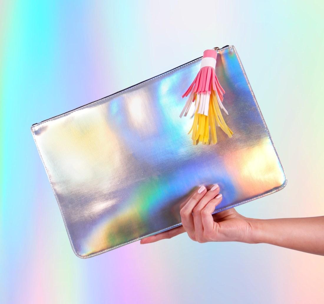 Patched Clutch Bag by La Come Di
