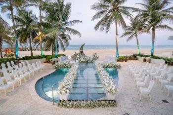 Sereno Pool à La Concha Resort Beachfront Wedding