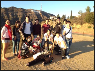 Japanese Students at Hollywood Sign