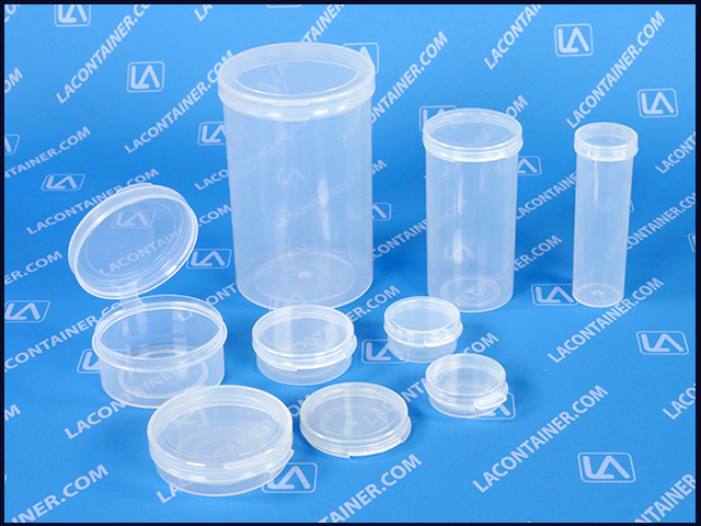 Lacons Flip Top Hinged Lid Polypropylene Containers For