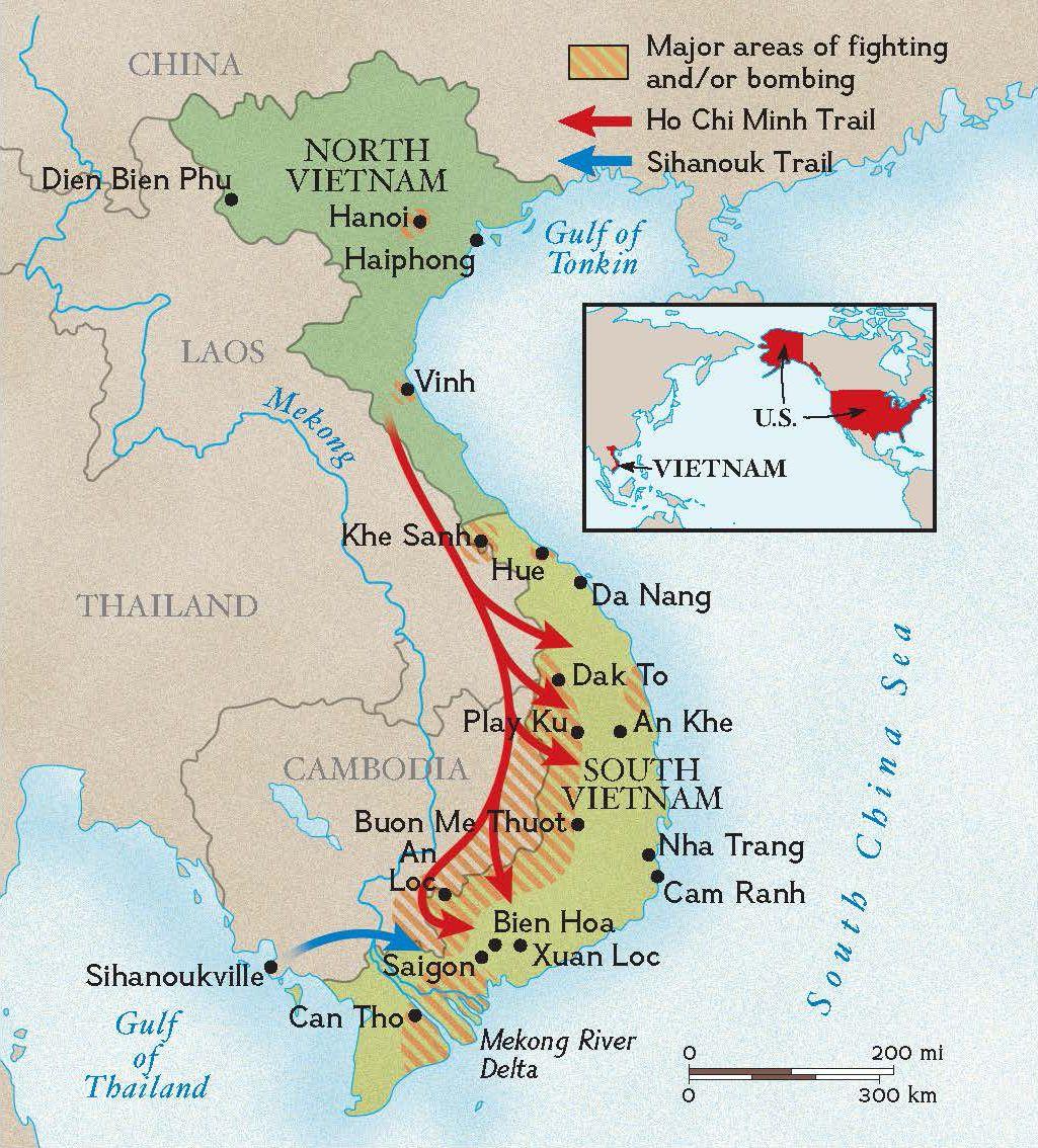 Mappa Della Guerra Del Vietnam